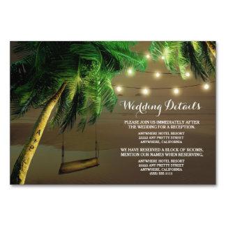 Luzes cinzeladas da praia da palmeira que Wedding
