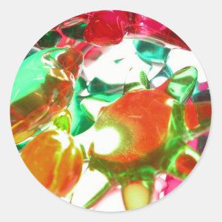 Luzes coloridas adesivos em formato redondos