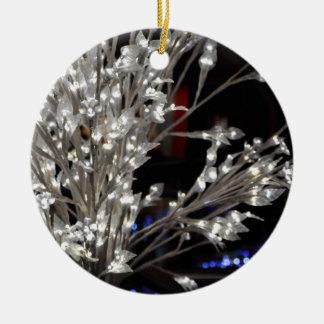 Luzes de Natal Ornamento De Cerâmica Redondo