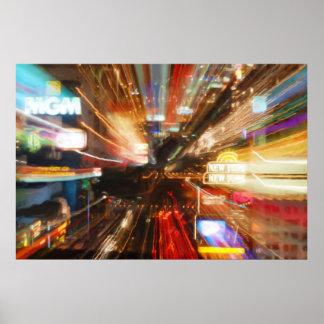 Luzes de Vegas - fotografia abstrata Poster