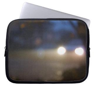 Luzes do carro capa para laptop