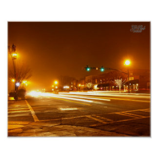Luzes do carro do zumbido do zumbido poster