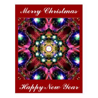 Luzes do Feliz Natal Cartão Postal