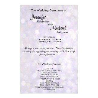 Luzes elegantes do programa | Bokeh do casamento Flyer 13.97 X 21.59cm