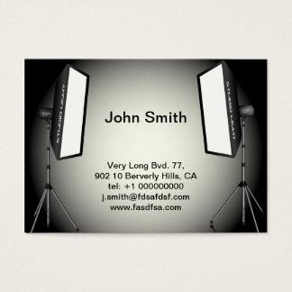 Luzes fotográficas cartão de visitas