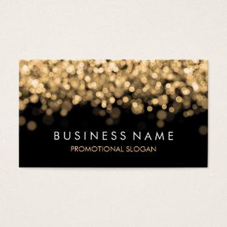 Luzes simples do ouro da faísca cartão de visitas