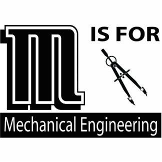 M é para a engenharia mecânica foto esculturas