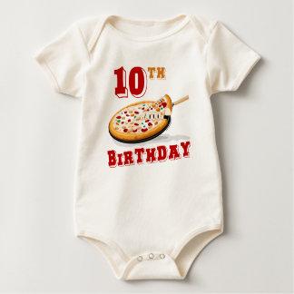 Macacão 10o Partido da pizza do aniversário
