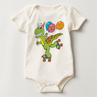 Macacão Dinossauro do primeiro aniversario