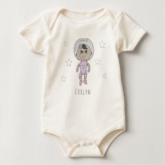 Macacãozinho Doodle e nome feministas do sonho do astronauta do