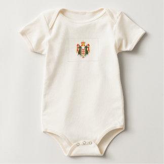 Macacãozinho Para Bebê Bandeira de Monaco