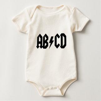 Macacãozinho Para Bebê Bodysuit do bebê de ABCD