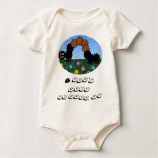 Macacãozinho Para Bebê Creeper orgânico infantil de Caterpillar do bebê