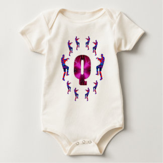 Macacãozinho Para Bebê Dança do ZOMBI com alfabetos: A a Z