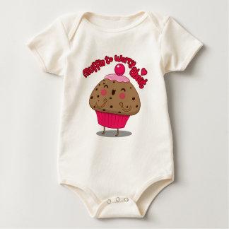 Macacãozinho Para Bebê Muffin a preocupar-se aproximadamente