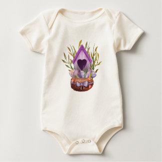 Macacãozinho Para Bebê Ninho bonito do primavera da aguarela
