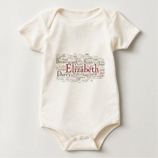 Macacãozinho Para Bebê Nuvem da palavra do orgulho e do preconceito