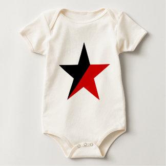 Macacãozinho Para Bebês Anarquismo preto e vermelho do