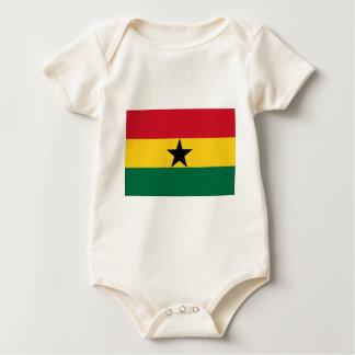 Macacãozinho Para Bebês Bandeira de Ghana - bandeira ganesa