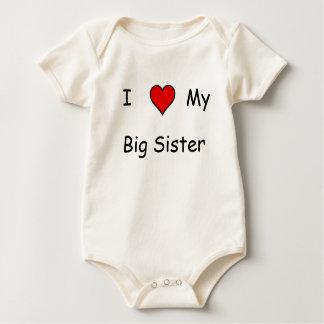Macacãozinho Para Bebês Eu amo minha irmã mais velha