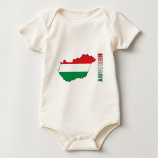Macacãozinho Para Bebês Mapa de Hungria