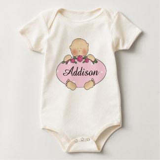 Macacãozinho Presentes personalizados do bebê de Addison