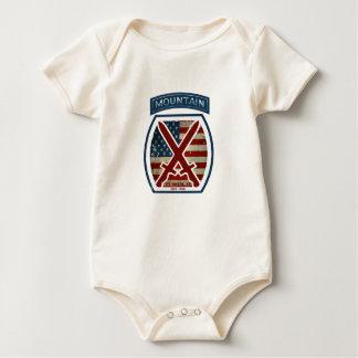 Macacãozinhos Para Bebê 10o divisão patriótica retro da montanha