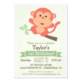 Macaco bonito, a festa de aniversário do miúdo