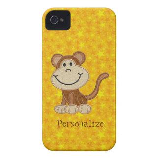 Macaco bonito Blackberry personalizado amarelo Capa Para iPhone 4 Case-Mate