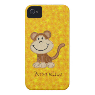 Macaco bonito Blackberry personalizado amarelo cor Capa iPhone 4
