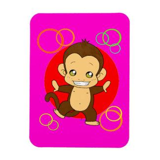 Macaco bonito foto com ímã retangular