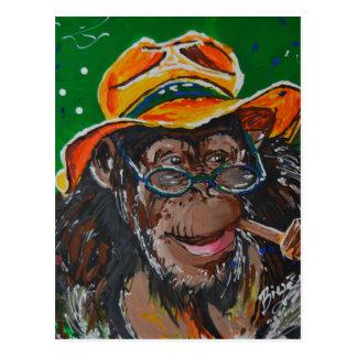 Macaco - cavalheiro cartão postal