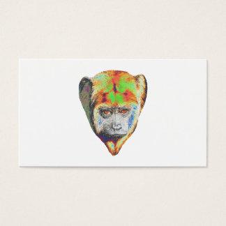 Macaco colorido cartão de visita