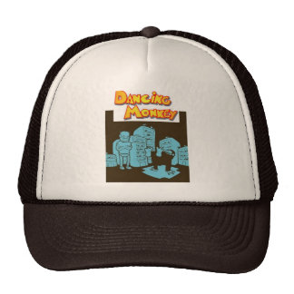 Macaco de Dancin do marrom do vintage do chapéu do Boné