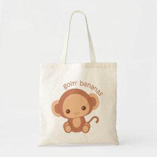 Macaco do bebê das bananas de Goin Bolsa Tote