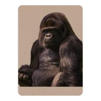 Macaco do macaco do gorila convite 12.7 x 17.78cm
