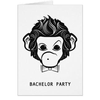 macaco do senhor do despedida de solteiro cartão