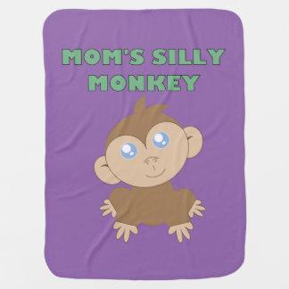 Macaco parvo - cobertura do bebê cobertor para bebe