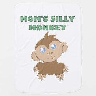 Macaco parvo - cobertura do bebê cobertores de bebe