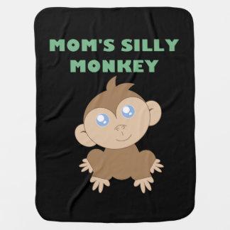 Macaco parvo - cobertura do bebê cobertores para bebe