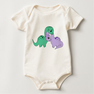 Macacões Amor do Apatosaurus - criança do bebê orgânica