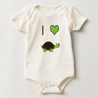 Macacões Mim tartarugas do coração (amor)
