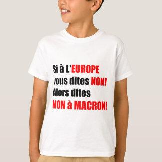 MACRON = blanc Enfant do t-shirt da mundialização