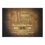 madeira gravada do casamento do país convites