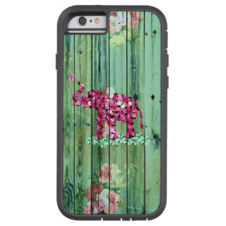 Madeira listrada verde de Sakura do rosa do Capa Tough Xtreme Para iPhone 6