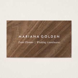 Madeira moderna cartão de visitas