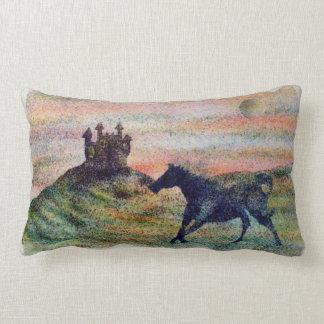 Madeira serrada Pilllow do castelo & do cavalo Almofada Lombar