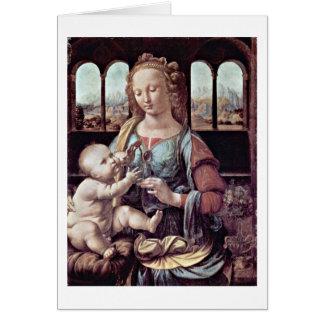 Madonna com o cravo, perto cartão comemorativo