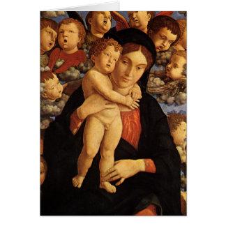 Madonna do Cherubim por Andrea Mantegna Cartão Comemorativo