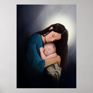 Madonna e criança poster